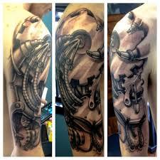 biomechanical sleeve tattoos image http tattoosaddict com