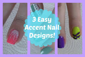 3 easy accent nail designs great for beginners youtube