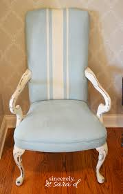Painting Vinyl Chairs Painted Upholstered Chair Using Chalk Paint Sincerely Sara D