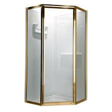 Gold Shower Doors American Standard Prestige 69 In X 68 1 2 In Neo Angle Shower