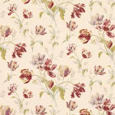Laura Ashley Home Decor Gosford Meadow Cranberry Wallpaper From Laura Ashley Wallpaper