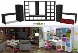 ikea like expedit kallax furniture at around the sims 4 sims 4
