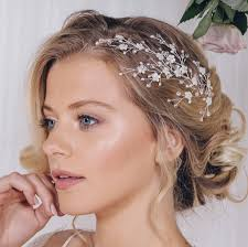 bridal headpiece floral gold silver or gold bridal headpiece cherry by debbie