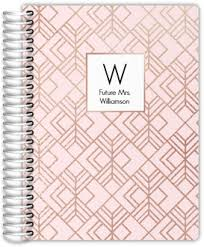 Wedding Journal Pale Pink And Faux Rose Gold Wedding Journal Wedding Journals