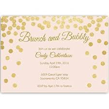chagne brunch invitations bridal shower invitations pink and gold confetti