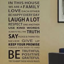 Family House Rules Free Shipping Family House Rules Vinyl Wall Decals Stickers