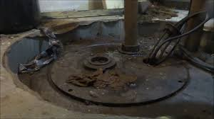 Basement Bathroom Sewage Pump Sewage Ejector Pump Replaced Youtube