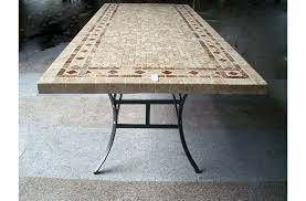 Mosaic Top Patio Table 78 Outdoor Patio Dining Table Italian Mosaic Marble Tuscany