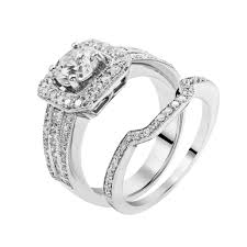vintage square engagement rings vintage square halo engagement ring with matching wedding band