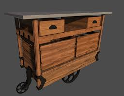 Industrial Kitchen Cart by Industrial Chic Kitchen Cart By Twocleanforks On Deviantart