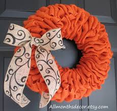 Halloween Wreaths For Sale Pumpkin Orange Burlap Red Burlap Felt Flower And Christmas Tree