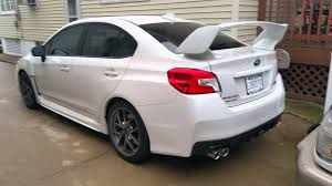 white subaru black rims 2016 subaru wrx sti limited white youtube