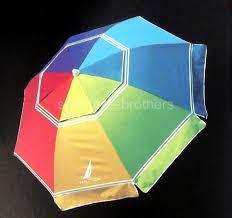 Beach Sun Umbrella 7 U0027 Foot Multi Color 2 Way Tilt Sun Beach Umbrella Upf 50 Carry Bag