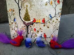 needle felted christmas ornaments living felt blog