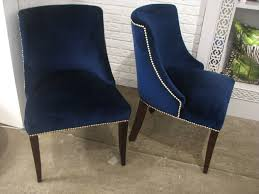 Dining Chair Fabric Sofa Alluring Blue Fabric Dining Chairs Bestjpg Blue Fabric