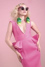 pink tooth peplum dress u2013 l o m