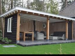 Garden Veranda Ideas Another Shed Turned Outdoor Seating Renovation Pinterest