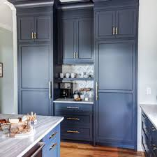 blue kitchen cabinets brown granite 75 beautiful blue kitchen with granite countertops pictures