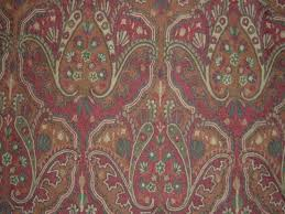 crewel fabric paisley tapestry cotton duck traditional