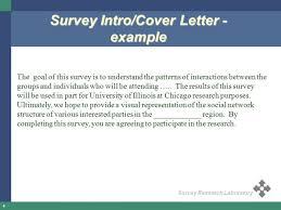 questionnaire design questionnaire cover letter