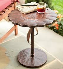 beautiful outdoor accent tables shiva lattice side table round