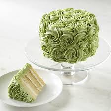 green roses green cake williams sonoma