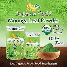 amazon com organic veda usda certified organic moringa leaf