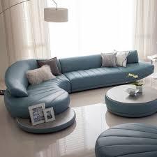 Leather Sofa Sets Modern Leather Sofa Set Living Room Furniture White Blue