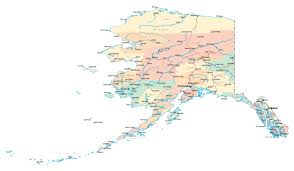 United States Map Major Cities by Large Detailed Administrative Map Of Alaska State With Roads And
