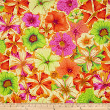 kaffe fassett petunias orange home decor fabrics and free spirit
