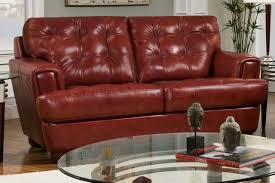 Modern Tufted Leather Sofa by Tufted Top Grain Leather Modern Sofa W Options