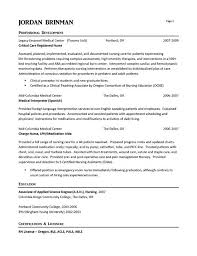 Good Nursing Resume Examples by Er Nurse Resume Berathen Com