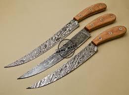 Top Kitchen Knives Lot Of 3 Pcs Damascus Kitchen Knives Custom Handmade Damascus