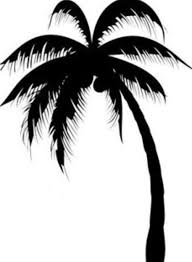 awesome black silhouette palm tree design