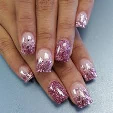 french tip nails with glitter nails pinterest makeup pretty