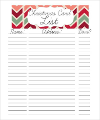 27 christmas gift list templates free printable word pdf jpeg