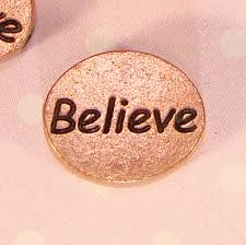 inspirational charms 4 believe copper plated oval inspirational charms for
