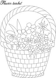flower basket coloring pages for kids at glum me