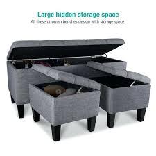 Large Storage Ottoman Bench Tufted Storage Bench Bedroom Ottoman Bench Tufted Leather Storage