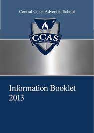 ccas information handbook 2013 by central coast adventist