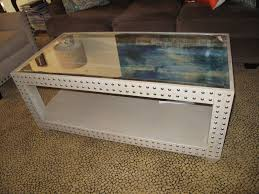 Glass Top Display Coffee Table With Drawers Furniture Excellent Unusual Coffee Tables With White Color And