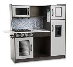 amazon com melissa u0026 doug wooden chef u0027s pretend play toy kitchen