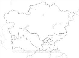 Blank Maps Of Africa by Central Asia Maps