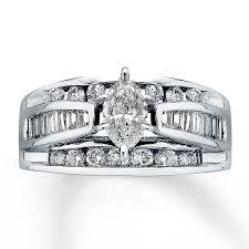kay jewelers diamond engagement rings kay diamond engagement ring 2 ct tw marquise cut 14k white gold