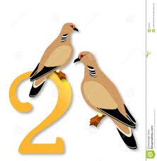 12 days of christmas 2 turtle doves stock illustration image