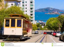 San Francisco Cable Cars Map by San Francisco Hyde Street Cable Car California Stock Photography