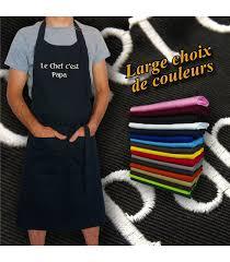 tablier de cuisine personnalisé idée de cadeau pour un chef le tablier personnalisé prénom