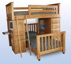 bunk beds with a desk underneath home design ideas