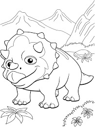 coloring pages from the animated tv series dinosaur train to print