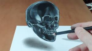 how to draw a 3d skull trick art crystal skull illusion youtube